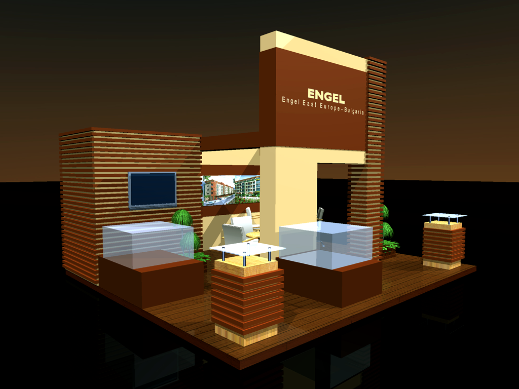 Триизмерна визуализация на щанд на Engel