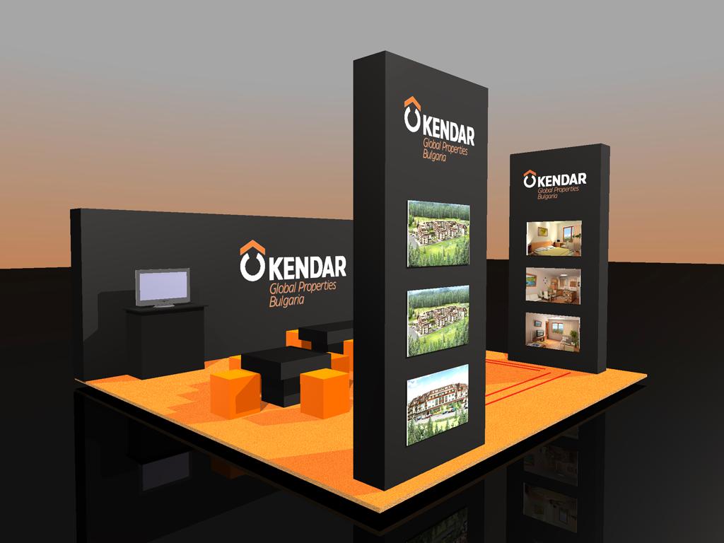 Триизмерна визуализация на щанд на Kendar