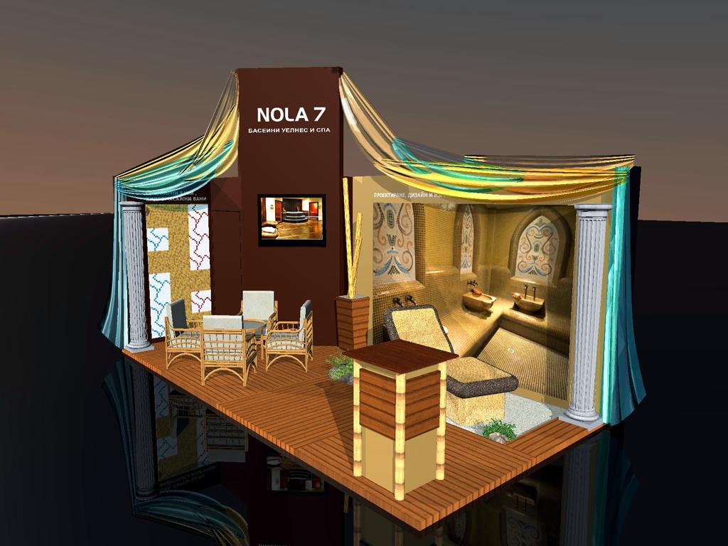 Триизмерна визуализация на щанд на Nola 7