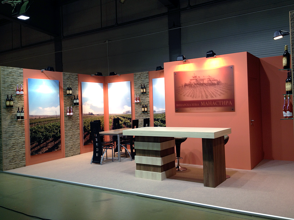 Exhibition stands stand wine cellar manastira for Fabricant de stand