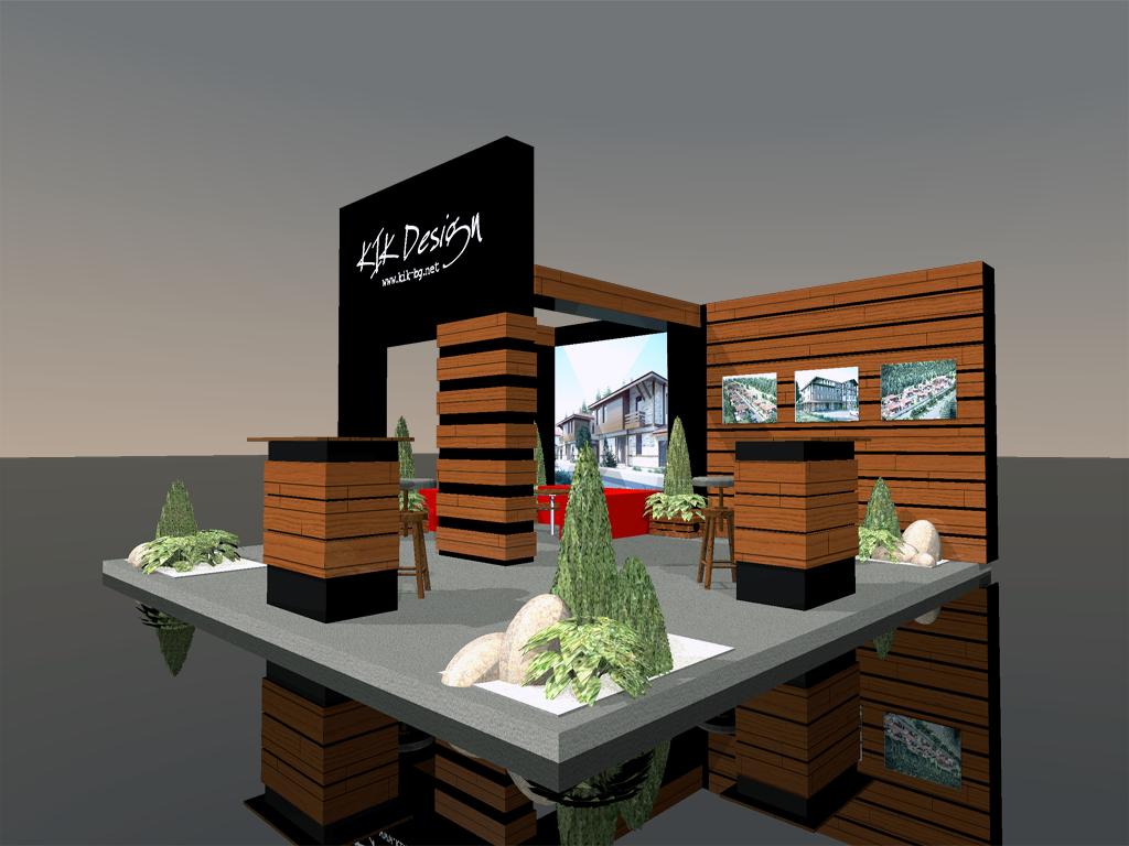Триизмерна визуализация на щанд на Kik Design